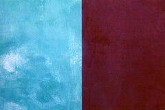 röd och blå sjaskig målarfärgstuckaturbakgrund Royaltyfria Bilder