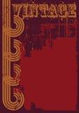 Röd och brun grungetappningbakgrund Royaltyfri Bild