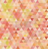 Röd och för orangutangfärg triangulär bakgrund abstrakt illustration stock illustrationer