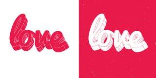 Röd och för vitförälskelse märka kort vektor illustrationer