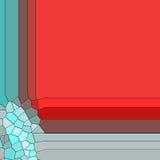 Röd och fosforescerande bakgrund för ram Arkivbild