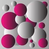 Röd och grå bollbakgrundsdesign Royaltyfri Foto