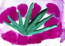 röd och grön akryl och vattenfärg royaltyfri bild