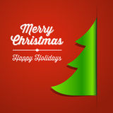 Röd och grön julgranpappersbakgrund Fotografering för Bildbyråer