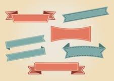 Röd och grön uppsättning av tappningband vektor stock illustrationer