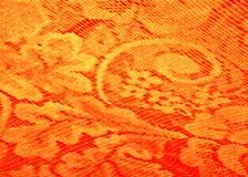 Röd och gul bakgrund av tyllen Royaltyfri Foto