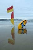Röd och gul flagga Royaltyfria Foton