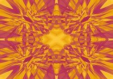 Röd och gul kalejdoskopmodell Arkivfoton