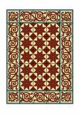 Röd och gul matta Royaltyfria Bilder