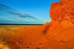 Röd och gul sand Royaltyfria Foton