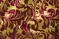Röd och guld- horisontaljulbakgrund Arkivfoton