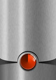 Röd och metallaffärsbakgrund Royaltyfri Foto
