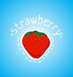 Röd och mogen jordgubbe Royaltyfri Fotografi