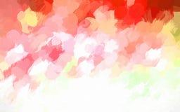 Röd och orange bandfärgbakgrund royaltyfri illustrationer