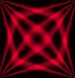 Röd och svart bakgrund för abstrakt begrepp för stjärnaeffektljus Arkivfoton