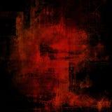 Röd och svart bakgrund för Grunge Royaltyfri Bild