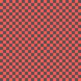 Röd och svart checkboard med mosaikceller Arkivbild