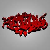 Röd och svart lös stilillustration för grafitti - Royaltyfri Foto