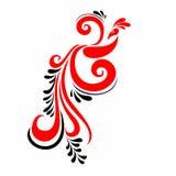 Röd och svart målning Slavisk prydnad Modell för texturer Folkmodell Royaltyfri Foto
