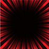Röd och svart Sunburstbakgrund Royaltyfria Bilder