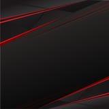 Röd och svart Sunburstbakgrund Royaltyfri Foto