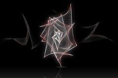 Röd och vit abstrakt våg med reflex royaltyfri illustrationer