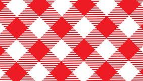 Röd och vit borddukbakgrund arkivfoton