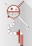 Röd och vit emoticon - le den roliga framsidainsidacirkeln Bakgrund för textbanret, affisch, broschyr Arkivbilder