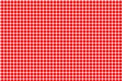 Röd och vit gingham vektor illustrationer