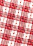 Röd och vit rutig bakgrund för vykort valentin för dag s Royaltyfria Bilder