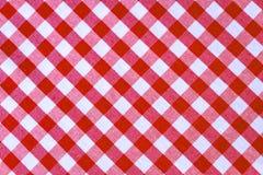 Röd och vit textur för plädtextiltyg för abstrakt bakgrund royaltyfri fotografi
