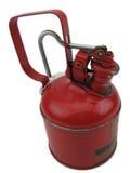 Röd oljecan Arkivfoto