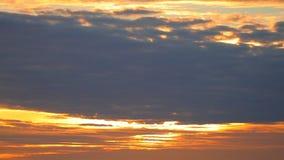 Röd orange Dawn Sky HD för sydkinesiska havet längd i fot räknat stock video