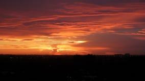 Röd orange solnedgångFort Lauderdale lager videofilmer