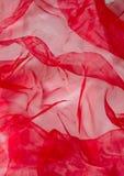 Röd organza Royaltyfria Foton
