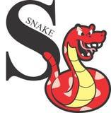 Röd orm för djurt alfabet royaltyfria bilder