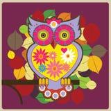 Röd owldrottning Arkivbild