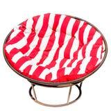 Röd Papasan stol och whit Fotografering för Bildbyråer