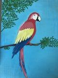 Röd papegoja Royaltyfria Foton