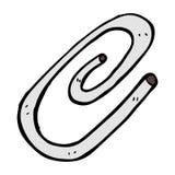 röd paperclip för komisk tecknad film Arkivfoto