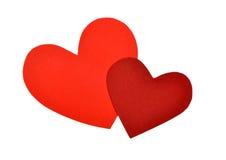 Röd pappers- hjärta formar Royaltyfri Bild