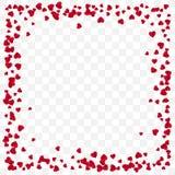 Röd pappers- hjärtarambakgrund Bakgrund för romantiker för dag för valentin` s Hjärtaram med utrymme för text också vektor för co royaltyfri illustrationer