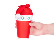 Röd pappers- kaffekopp Royaltyfri Bild