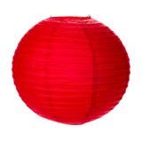 Röd pappers- lykta Fotografering för Bildbyråer