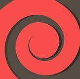Röd pappersspiral på en mörk bakgrund för bakgrundsabstrakt begreppvektor arkivfoton