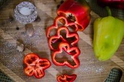 Röd Paprika Fotografering för Bildbyråer