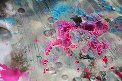 Röd pastellfärgad suddighet brända fläckar, abstrakta vattenfärgpastelltoner Arkivfoton