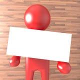 Röd person med vitmellanrumet Arkivfoton