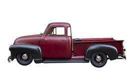 Röd pickup Arkivbild