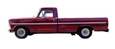 Röd PickupTruck för klassiska Eighties Royaltyfri Fotografi